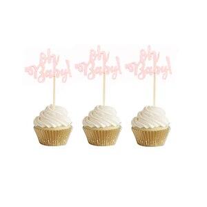 Image 5 - 10Pcs Glitter Goud Oh Baby Cupcake Toppers Oh Jongen Meisje Baby Shower Ballon 1st Gelukkige Verjaardag Taart Decoratie Kids feestartikelen