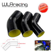 "Bleu/noir et jaune 2.0 ""2.5"" 3 ""51mm 63mm 76mm 45 degrés coude Silicone tuyau tuyau Intercooler Turbo tuyau dadmission coupleur tuyau"