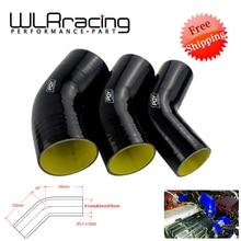 """Mavi/siyah ve sarı 2.0 """"2.5"""" 3 """"51mm 63mm 76mm 45 derece dirsek silikon hortum boru Intercooler Turbo emme boru çoğaltıcı hortum"""