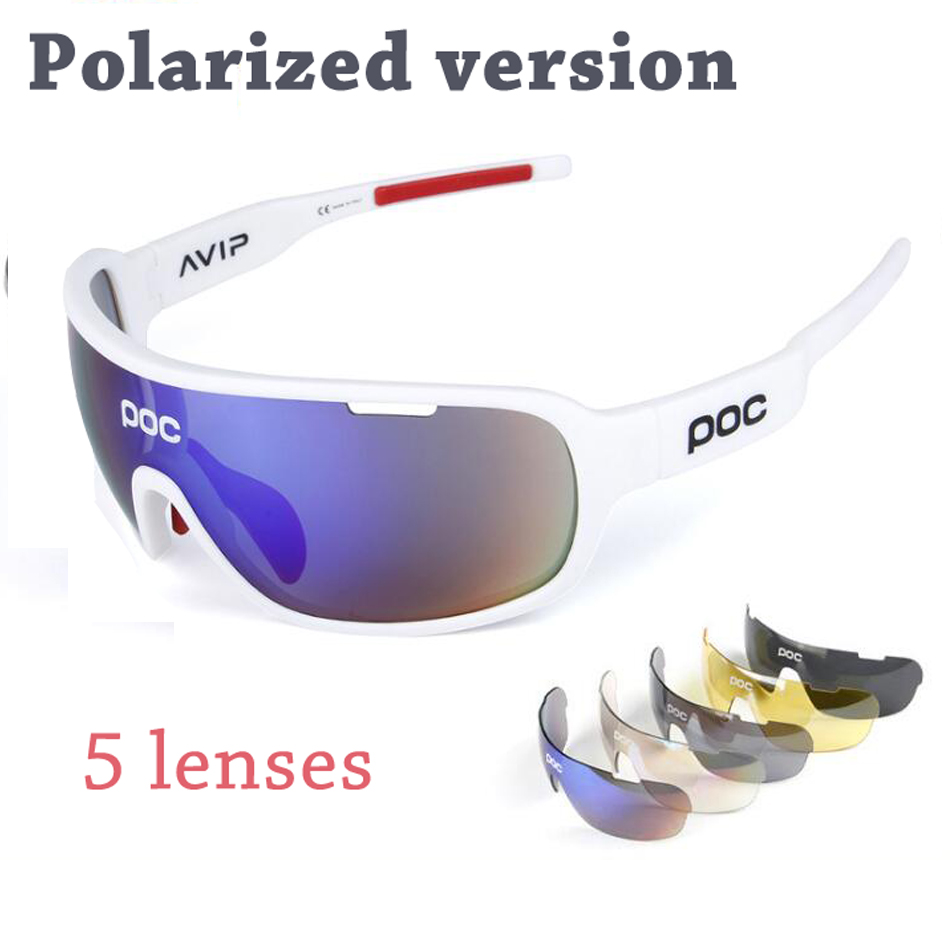 Cycling Sports Glasses Outdoor Glasses Bike Sunglasses   Poc 5 Lenses Sun Protection Fishing Sunglasses