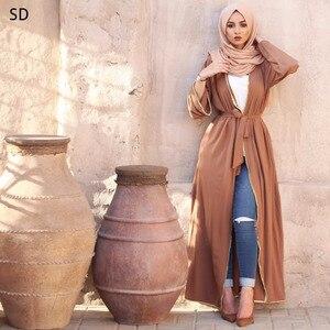 Open Abaya Maxi Dress Long Robe Musulmane Turkish Dubai Fashion Abaya Muslim Dress Robes Arab Clothing