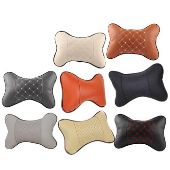 Memory Foam Chair Armrest Pad Comfy Car Breathable Seat Headrest Bone Pillow Neck Protection Red Line Seat image