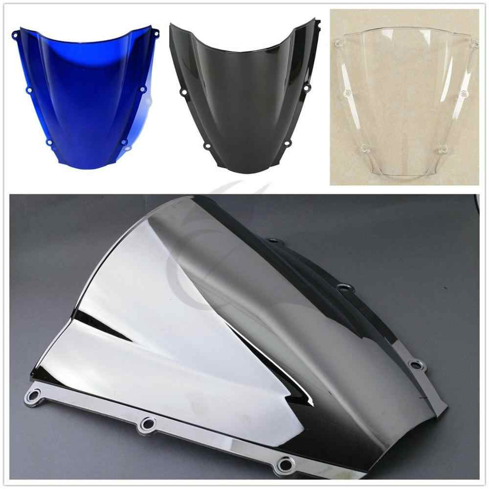 Motorcycle PMMA Dual Bubble Windshield Windscreen For Honda CBR600RR CBR 600 RR 2003 2004