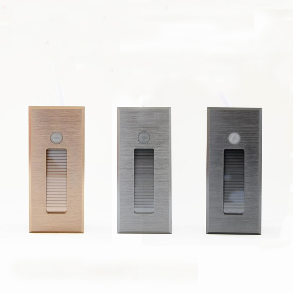 Led Footlight Embedded Corner Lamp 85-260V Indoor Step Stair Lights Recessed Led Night Light With Sensor Wall Sconce Lighting