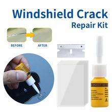 Car Window Repair Fluid Cracked Glass Scratch Repair Kit Windshield Repair Liquid for Car Auto Window Glasss Crack Restore Tool