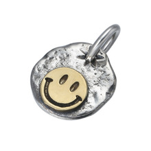 925 Sterling Silver Vintage Smiley face Lightning Charm Pendant Men Women Wedding Necklace Pendant Jewelry zabra 925 sterling silver jesus cross pendant religion necklace for men women christianity vintage jewelry