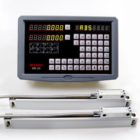 Milling Machine Digital Readout 2 Axis Digital Readout for Lathe Optical Linear Encoder Level Measuring Instruments Linear Ruler