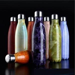 Image 3 - FSILE 500/1000 мл с двойными стенками изолированный термос Нержавеющаясталь воды колы бутылки воды пива термос для Спортивная бутылка/6