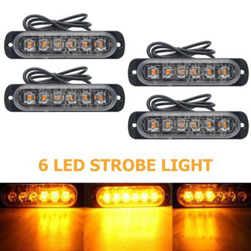 Ultra-thin LED Emergency Light For Car Warning Flashing Firemen Police Emergency Light Ambulance Police Strobe LED Warning Light