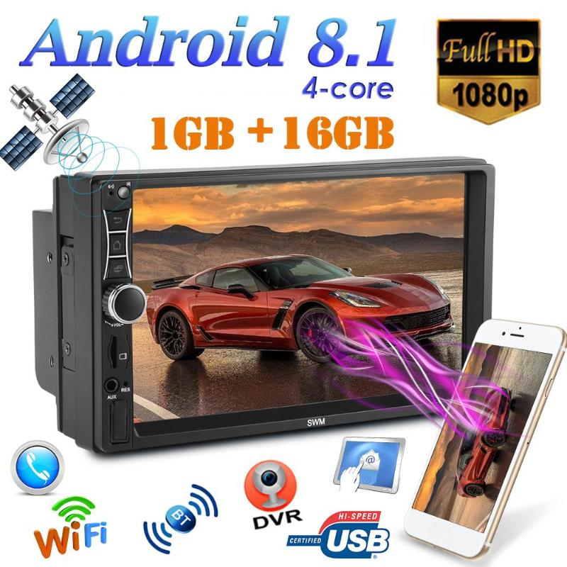 SWM A2 2Din 7 Touch Screen Android 8.1 Car Radio Stereo Video MP5 Player GPS Navi Bluetooth WiFi USB TF MP5 Multimedia Player image