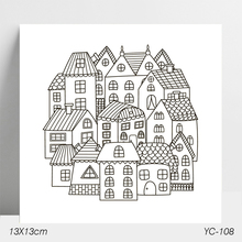 AZSG House Clear Stamps/Stamp/For Scrapooking/Card Making/Silicone Stamps/Decoration  Crafts