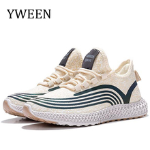 YWEEN Casual Shoes Women Ladies Flats Vulcanized Shoes Canvas Stretch Fabric Sneakers Women  Lace Up Shoes Woman Platform Shoes