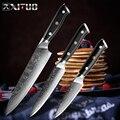 XITUO Дамаск лучший нож шеф-повара Многофункциональный кухонный нож японский VG10 сталь острое лезвие G10 Кливер кухонные аксессуары CookingTool
