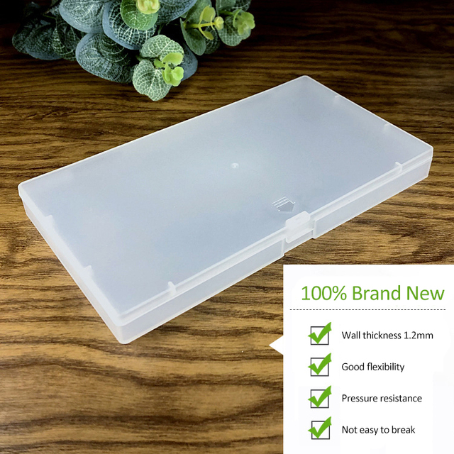 Frosted Plastic Box Mask Packaging Box Component Storage Box For Mouth Face N95 Masks Storage Box 2