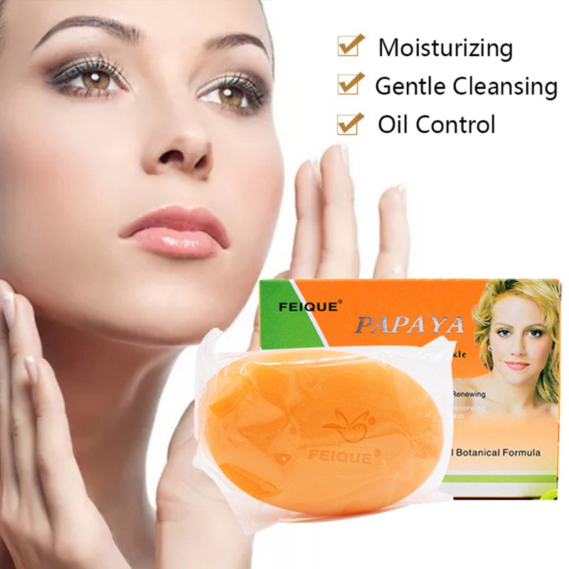 Natural Botanical Formula Papaya Whitening Anti-freckle Soap Long-lasting Moisturizing Face Care Wash Basis Soap