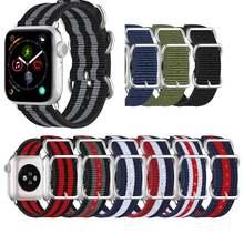 Ремешок нейлоновый для apple watch band 44 мм 40 38 42 спортивный