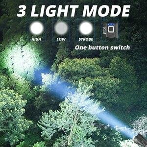 Image 5 - XLamp XHP90 en güçlü Usb zumlanabilir Led el feneri Xhp70.2 taktik flaş ışıklı fener 26650 veya 18650 pil avcılık için
