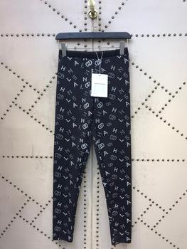 2020 Paris Runway Fashion Collection wysokiej jakości Streetwear czarne legginsy tanie i dobre opinie MELNIKO CITY Poliester Akrylowe Kostki długości spodnie Ołówek spodnie Mieszkanie REGULAR Osób w wieku 18-35 lat Aplikacje