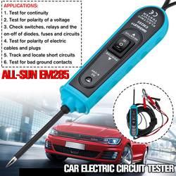 Ferramentas automotivas 6-24v do verificador do circuito bonde do carro da sonda de energia nova com cabo de 5m todo o sol em285