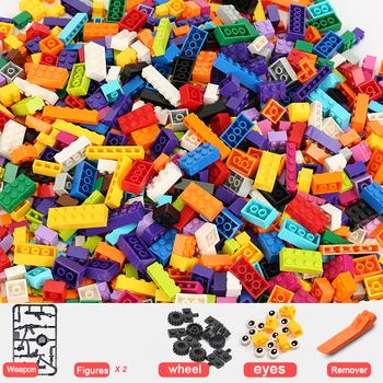 1000 sztuk DIY klocki grube figurki klocki klocki legoINGlys klocki ustawione dla dzieci tanie i dobre opinie NoEnName_Null CN (pochodzenie) Unisex 6 lat Mały budynek blok (kompatybilne z Lego) 6972749380153 Certyfikat 2019152203027507