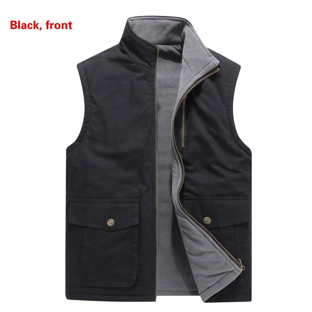 bolsos colete sem mangas jaqueta tamanho 8xl