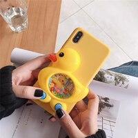 3D Spiel Ente Spielzeug Fall Flüssigkeit Weiche Abdeckung Für Xiaomi Mi 11 CC9 CC9e Hinweis 10 Pro Mi Spielen Pocophone f1 Redmi 6 7 8 8T 9 4 4X 5 9s S2