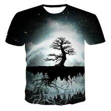 Camiseta de manga corta con estampado 3D para hombre de camiseta de ocio part of arriba ropa informal 2021