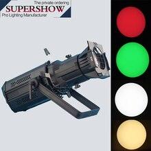 Sân Khấu Kịch Chuyên Nghiệp Đèn Led Ốp Nổi DMX 200W COB LED RGBW 4in1 LED Hồ Sơ Đèn Dạng Elipxoit Tiếng Ồn Thấp Cho Sân Khấu chiếu Sáng