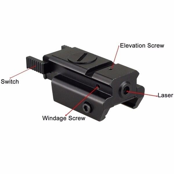 Red/Green Laser Sight and Glock Flashlight Combo Tactical Rifle Lights Pistol Guns Glock 17,19, 22 Series Hunting Laser Sight-2