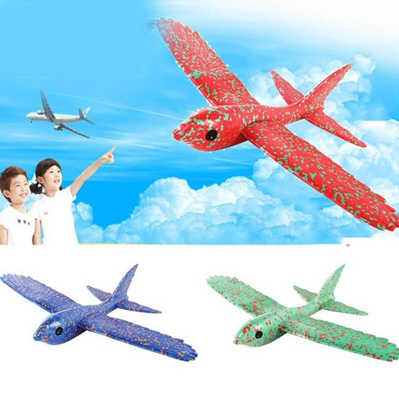 New 48cm Hand Throw Airplane Toys Simulation Bird Epp Foam Outdoor Launch Glider Flexible Plane Free Fly Rc Airplane Model Toy