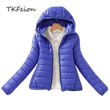 2020 New Arrived Fashion Ladies Winter Parka Coat Warm Style Spring Autumn Slim Short Cotton Padded Hooded Jacket Womens 3XL 2XL