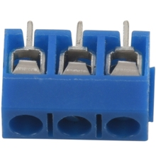 20 pieces 3 pin 5 mm pitch PCB screw Terminal Block 300V 16A AWG14-22 blue color