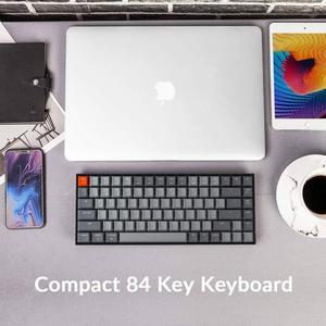 Image 5 - Clavier mécanique Bluetooth Keychron K2 A V2 avec interrupteur rouge Gateron/LED blanc rétro éclairé clavier sans fil 84 touches pour Mac Windows