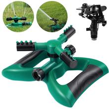 Lawn Sprinkler 3 Arm with Impact Sprinkler, Automatic 360 Degree Rotating, Adjustable Angle and Distance, Garden Water