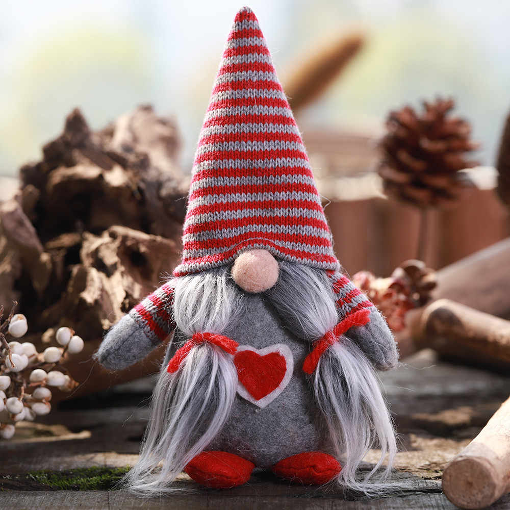 Sem rosto Boneca Decoração Para A Decoração de Natal Barba Chapéu Listrado Amarrado As Pernas Penduradas No Face dol # AQ 2019 Casa Natal decoração