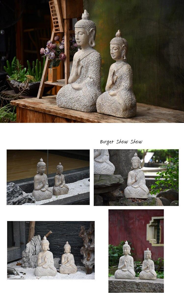 Buddha Statue Zen Sakyamuni Garden Decoration Statue Outdoor  Decorative Buddha Sculpture For Home Desk Garden Decor Ornament Pakistan
