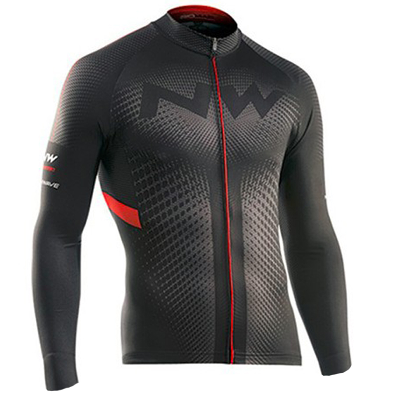 NW Brand Winter Cycling Jersey Long Sleeve Thermal Fleece Bicycle Wear Bike Cycling Clothing Invierno Maillot Ciclismo(China)
