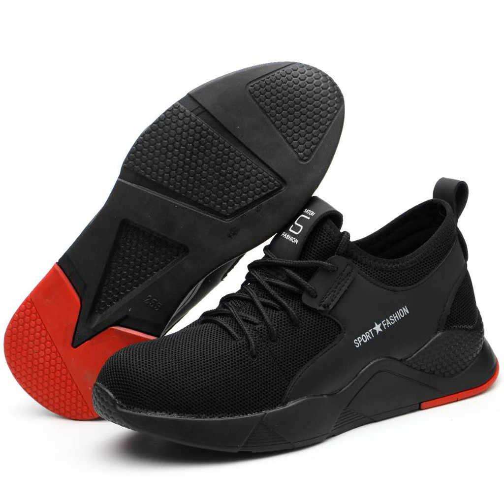 casual shoes men sneakers Mens Women Work Steel Toe Caps Hiking Walking Running Sneakers Safety Shoes sport shoes men