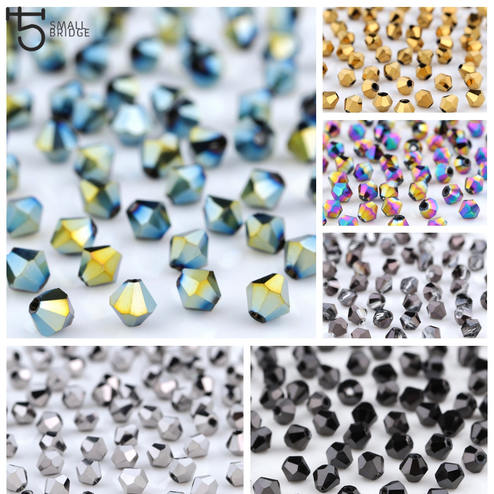 1000pcs 2//3//4mm Austria Glass Crystal Bicone Loose beads 5301 DIY Jewelry making