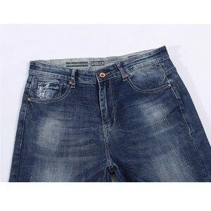 Image 3 - KSTUN Jeans Männer Stretch Sommer Blau Business Casual Dünne Gerade Jeans Mode Jeans Männliche Hose Regular Fit Große Größe