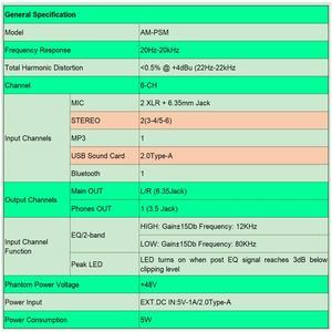 Image 5 - Freeboss AM PSM DC 5V אספקת חשמל USB ממשק 6 ערוץ 2 מונו 2 סטריאו 16 אפקטי אודיו מיקסר