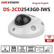 Hik Video gözetim WiFi kamera DS 2CD2543G0 IWS 4MP kablosuz IR Mini Dome güvenlik IP kameralar POE H.265 + dahili mikro