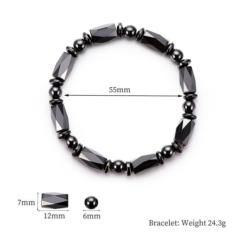 Men Bracelet Natural Jewelry Natural Stone Genuine Leather Bracelet Black Stainless Steel Magnetic Clasp Tiger Eye Bead Bracelet