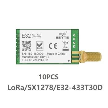 10 sztuk partia 433 MHz SX1276 LoRa UART bezprzewodowy nadajnik odbiornik E32-433T30D IoT 433 mhz 30dBm nadajnik-odbiornik daleki zasięg transmisji tanie i dobre opinie CLEQEE CN (pochodzenie) Nowy wireless module 433MHz(410~441MHz) 24*43mm 8000m SX1278 SX1276 SMA-K 2 8-5 5V