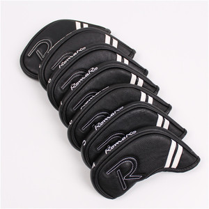 New 7pcs Golf Iron Head Covers With Magnetic Closure PU Romaro Golf Irons Set Covers #4-9P For Man Women