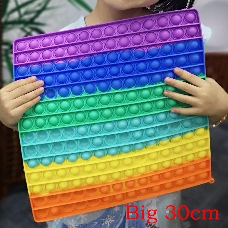 Игрушка антистресс большого размера, игрушка-антистресс квадратной формы, 13-30 см, игрушка-антистресс с пузырьками, игрушка для взрослых и де...