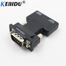 Kebidu 1080 p hdmi hdtv 모니터 프로젝터 pc ps3 용 남성 케이블 어댑터에 오디오 여성과 vga 변환기 어댑터