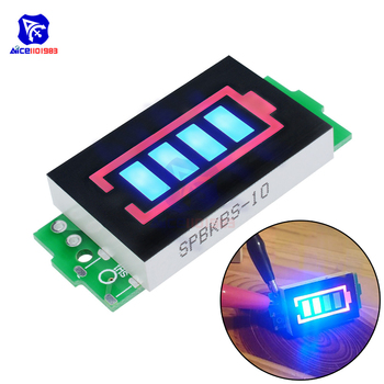 diymore 1S/2S/3S/4S/6S/7S Series Green/Blue 4 Level LED Indicator Module 18650 Lithium Battery Capacity Charging Tester for Car image