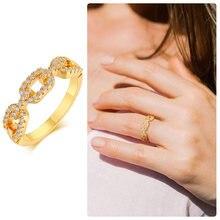 AAA CZ cubique zircone rectangulaire chaîne liée pour les femmes marques de mariage CZ or rempli bijoux de fiançailles en gros