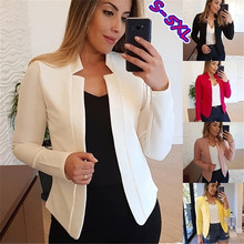 Spring solid color casual commuting professional wild small blazer jacket women'